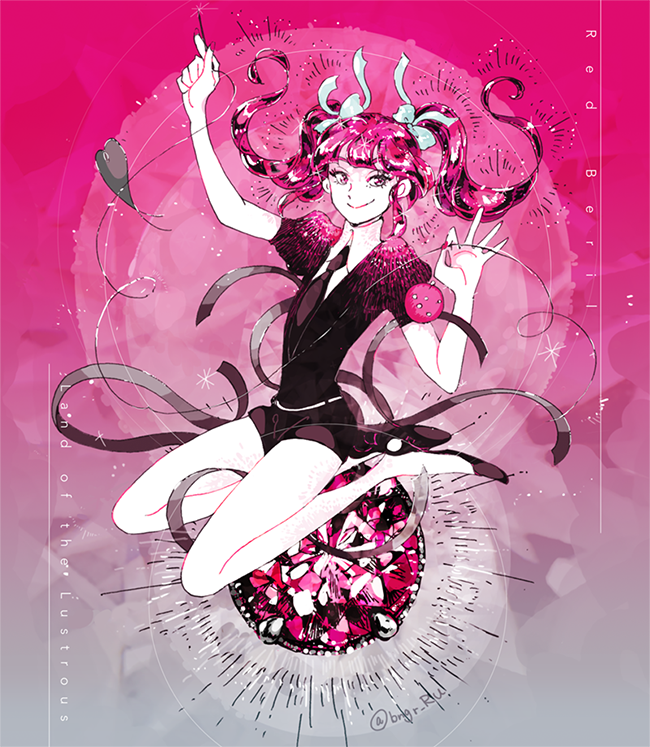 Red Beryl Japanese Characters, Landing, Anime Art, Copycat, Lesbians, Geek  Culture