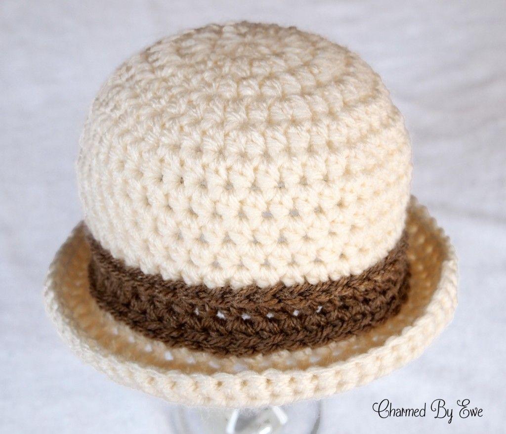 Bowler Hat Crochet Pattern   Crochet Hats   Pinterest   Crochet ...