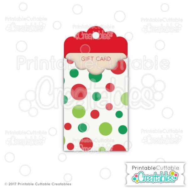 christmas tag gift card holder cutting files christmas tag gift