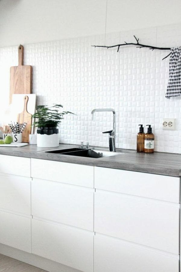 wandfliesen küche fliesenspiegel weiße küchenfliesen silas ideen - küche fliesen ideen