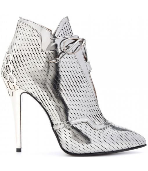 Perforated-leather Ankle Boots