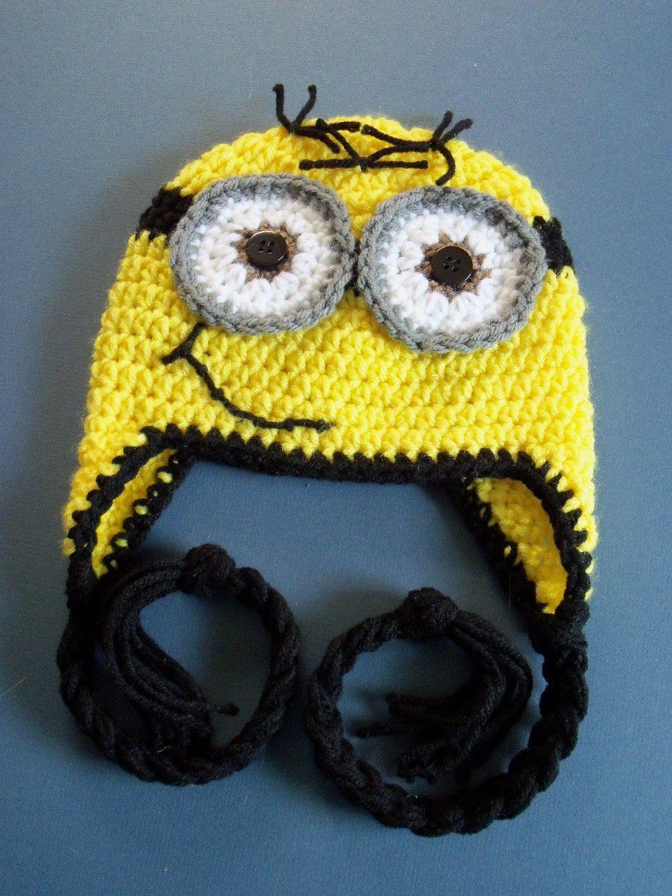 Crochet Minion Hat, Crochet Despicable Me Hat, Toddler, Baby Boy ...