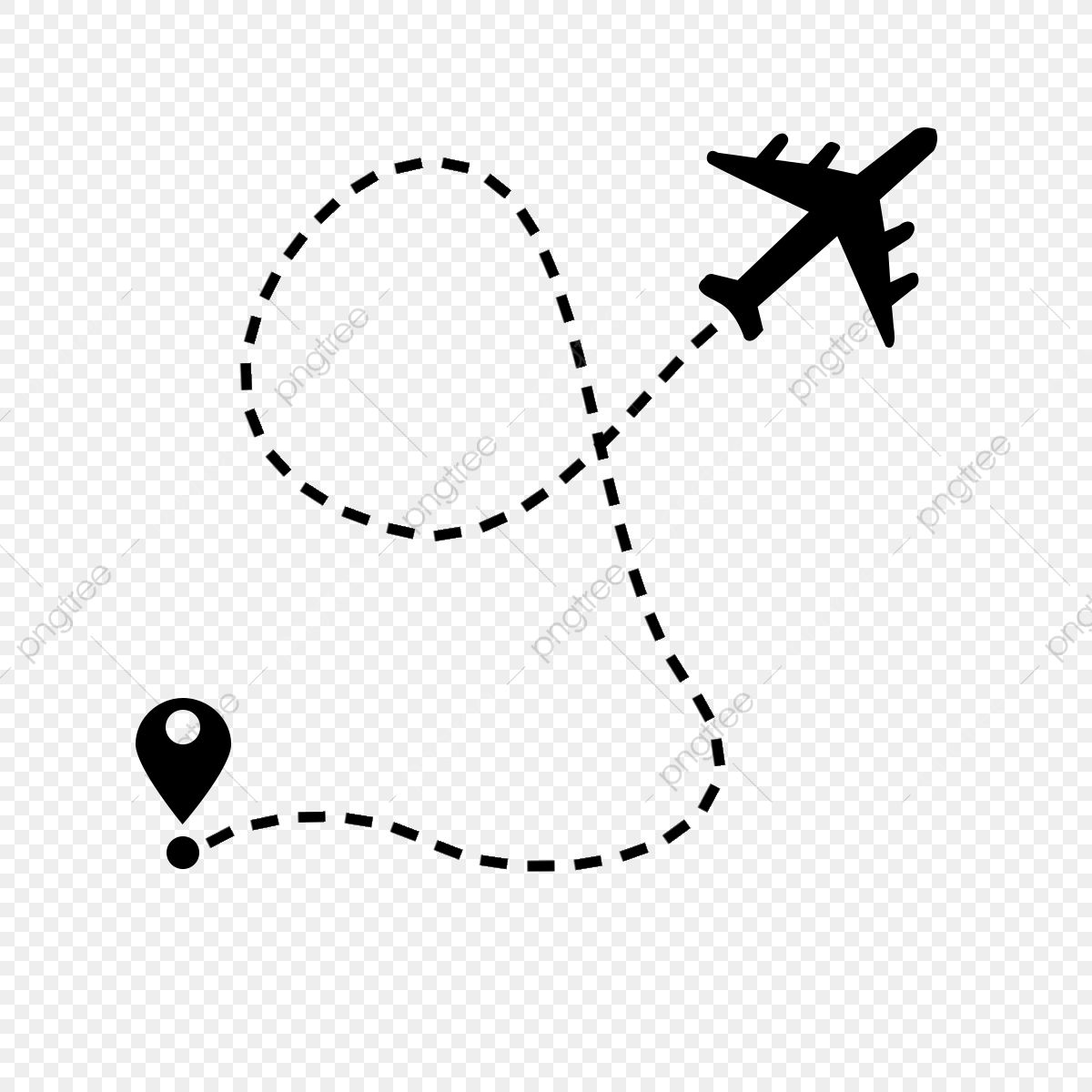 Air Plane Flight Route With Start Point And Dash Line Trace Plane Airplane Line Png Transparent Clipart Image And Psd File For Free Download Plane Flight Plane Drawing Airplane Icon