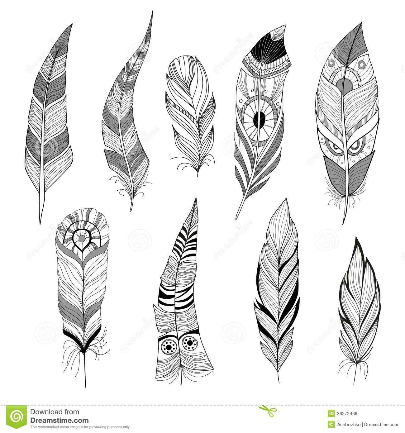 indian feathers template - HD 1300×1390