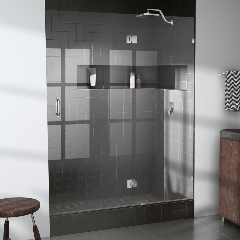 Glass Warehouse 39 25 In X 78 In Frameless Glass Hinged Shower