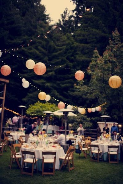 Ourtdoor wedding reception is what I want :)