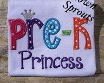 prek princess shirt - Google Search