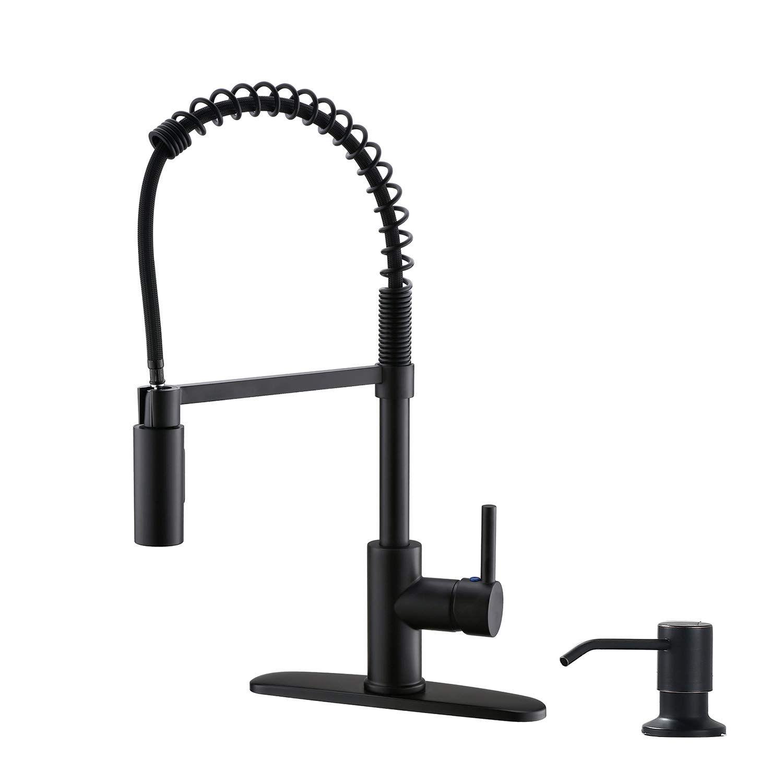 Vigo Laurelton Pull Down Spray Kitchen Faucet In Matte Black appaso matte black commercial kitchen faucet pull down