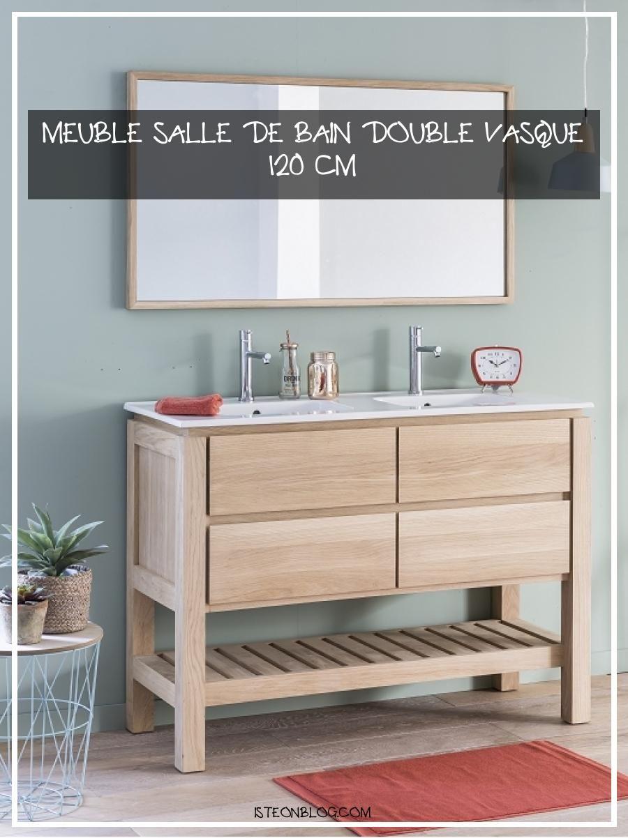 Meuble Salle De Bain Double Vasque 120 Cm En 2020 Meuble Salle De Bain Salle De Bains Double Vasque Meuble Sous Vasque