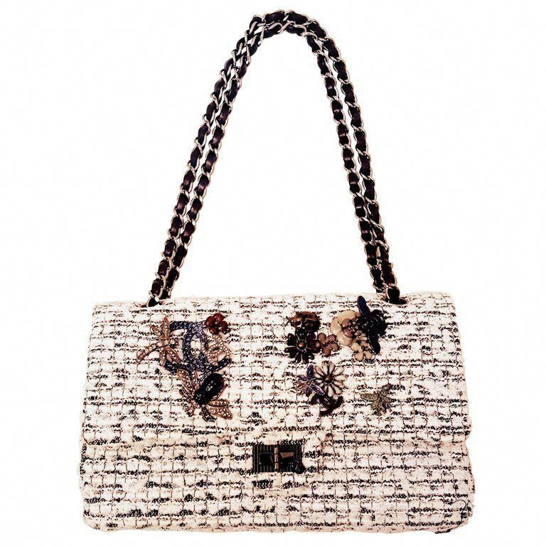 6dfaf41a5728 Chanel Garden Charm 2.55 Double Flap White #WomensShoulderbags ...