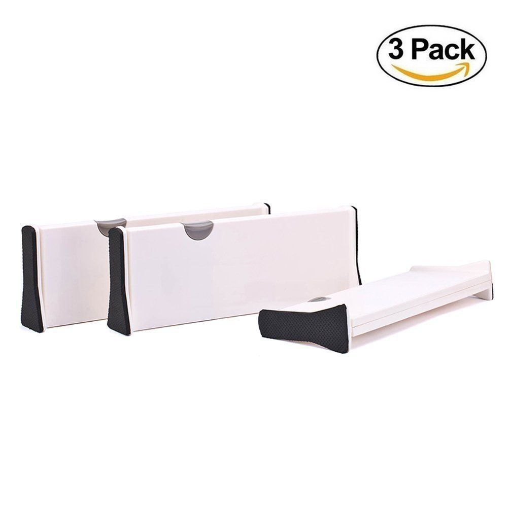 Adjustable drawer divider white decomomo large expandable