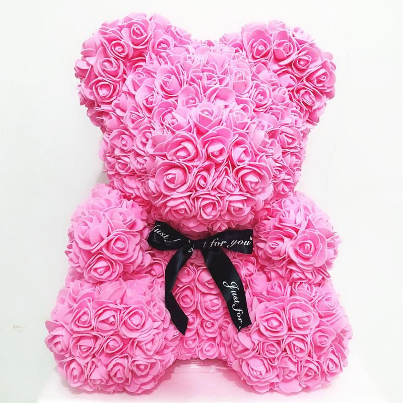 Pink Rose Bear In 2020 Bear Valentines Forever Rose Favorite Things Gift