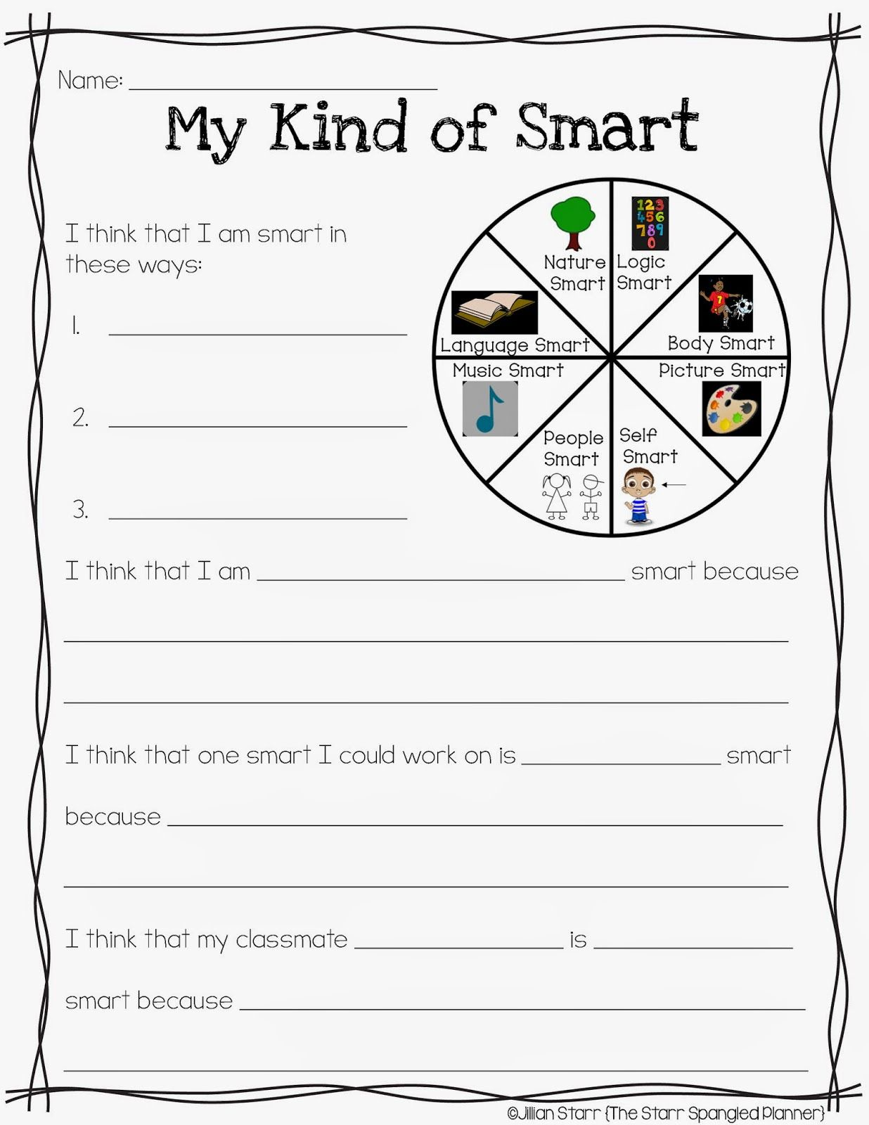 Multiple Intelligences Modified For Primary Students A
