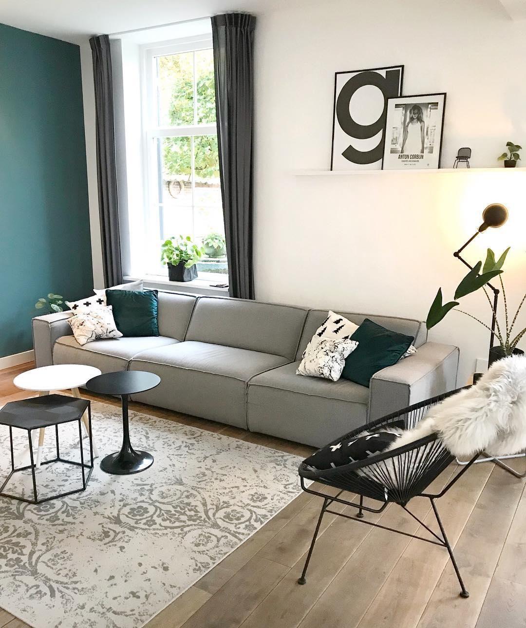 Sessel Mailand | Sofa Beistelltisch, grüne Wandfarbe und Wohnzimmer ...