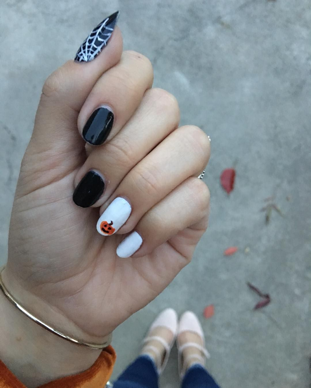 Just a touch of Halloween spirit on my nails. # ...