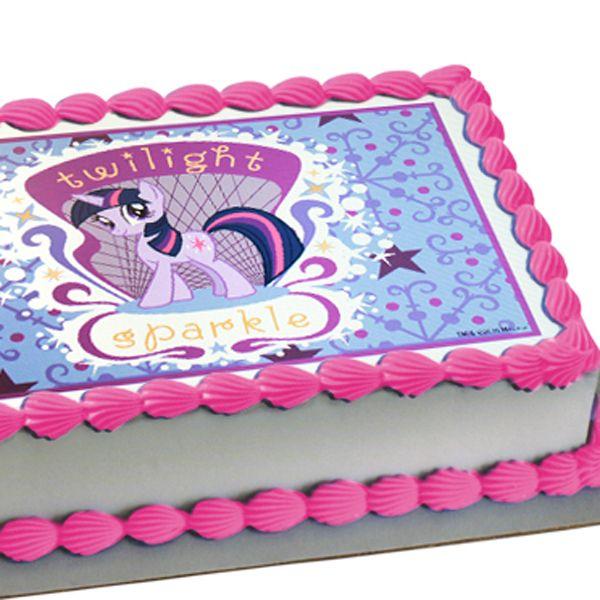 Twilight Sparkle edible sheet cake decoration 999 Freezethaw