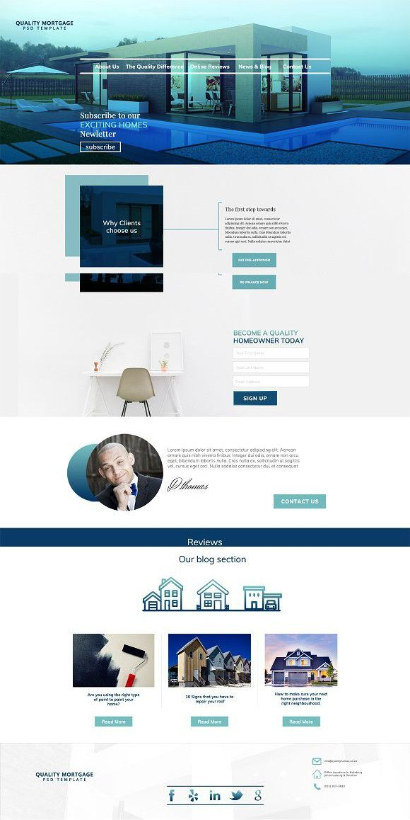 Mortgage Landing Page Psd Template Web Layout Design Landing Page Psd Templates