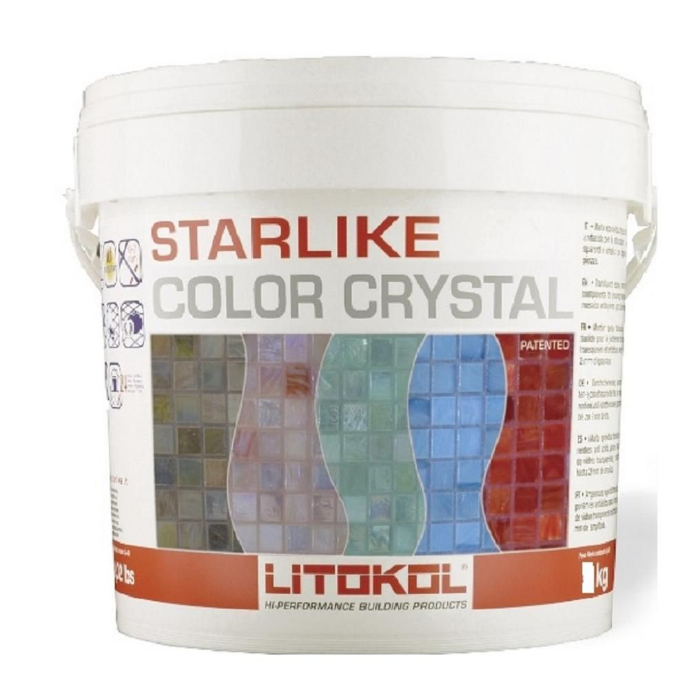 The Tile Doctor 2 5 Kg Starlike Color Crystal Glass Azzuro Taormina Blue Grout C 353 2 5kg Mosaic Glass Epoxy Mortar Fire Glass