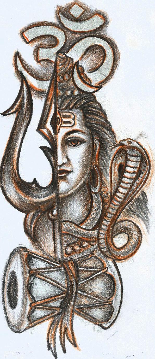 Om tishul and shiva tattoo shiva art hindu art shiva shakti lord shiva