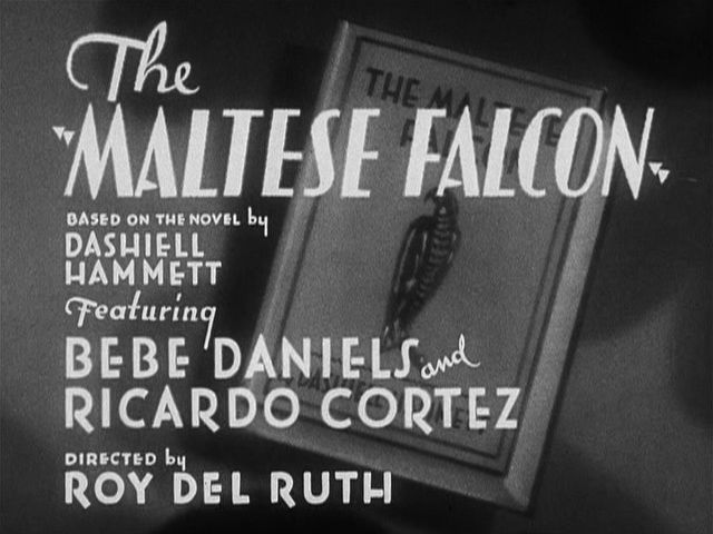 The Maltese Falcon - written by Hammett