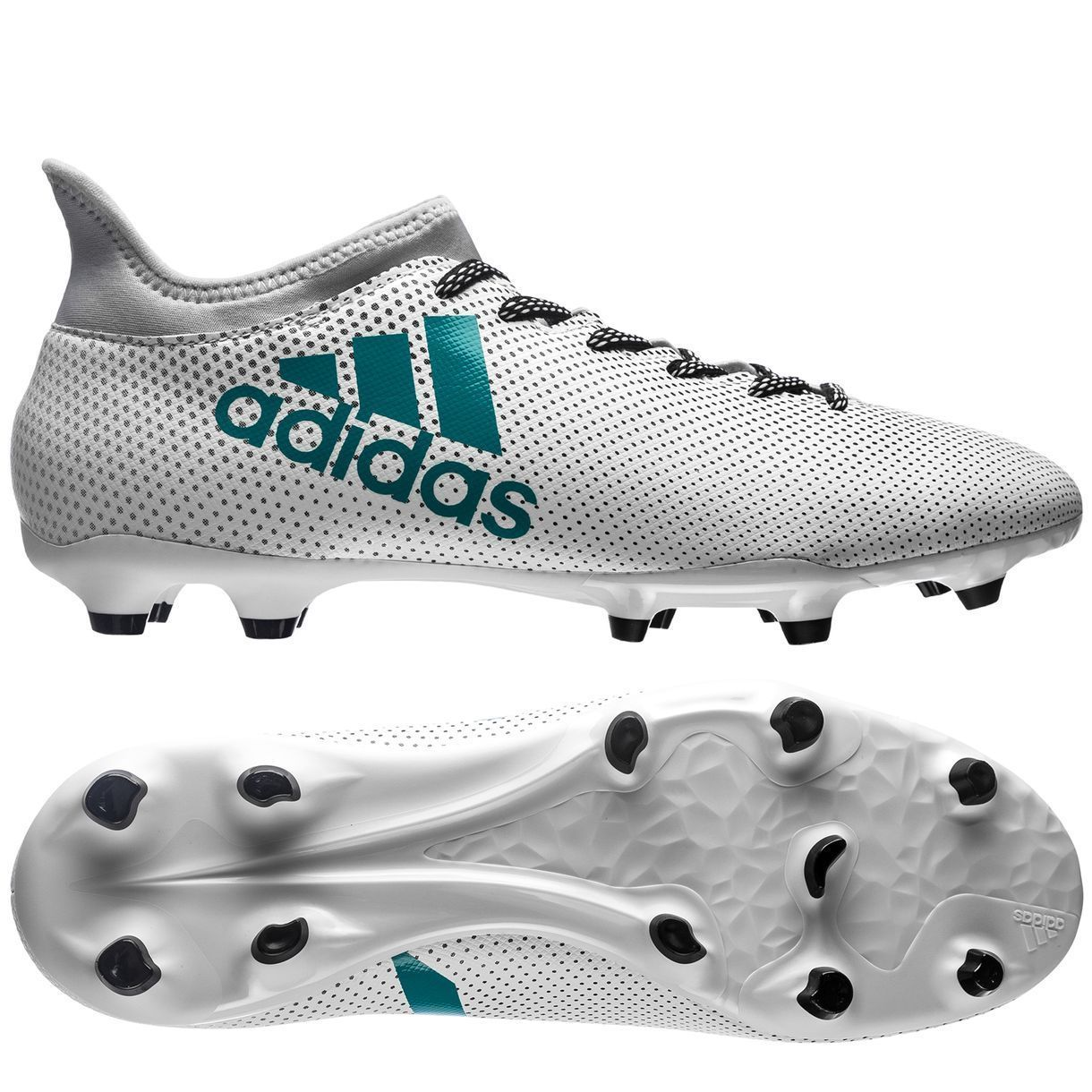 78177ed2aad adidas X 17.3 FG 2017 Soccer Shoes Cleats White   Turquoise Brand ...