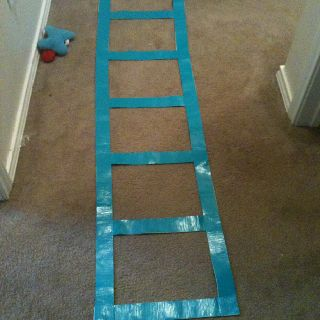 Save A Few Bucks Make An Agility Ladder Out Of Duct Tape I Did This And Saved My Self 30 You Can Even Use Agility Ladder Roller Derby Girls Roller Derby