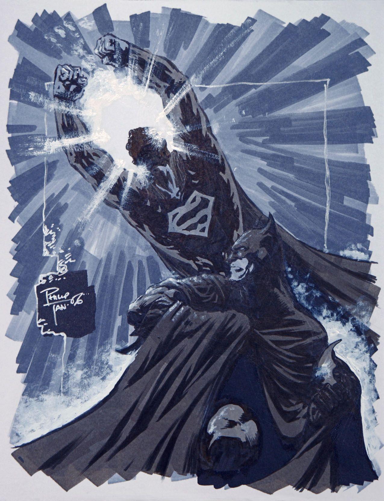 Superman / Batman by Philip Tan