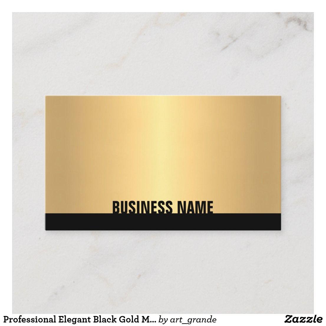 Professional Elegant Black Gold Modern Creative Business