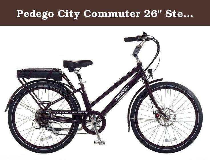 Pedego City Commuter 26 Step Thru Merlot With Black Balloon