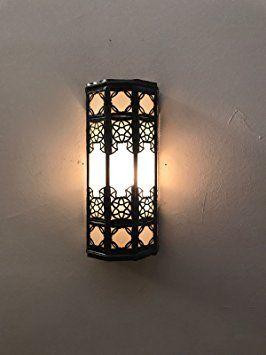 applique murale lampe lanterne aluminium et verre marocaine artisanale maroc ethnique 1208. Black Bedroom Furniture Sets. Home Design Ideas
