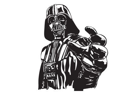 Darth vader hand outstretched artwork ideas for Darth vader black and white