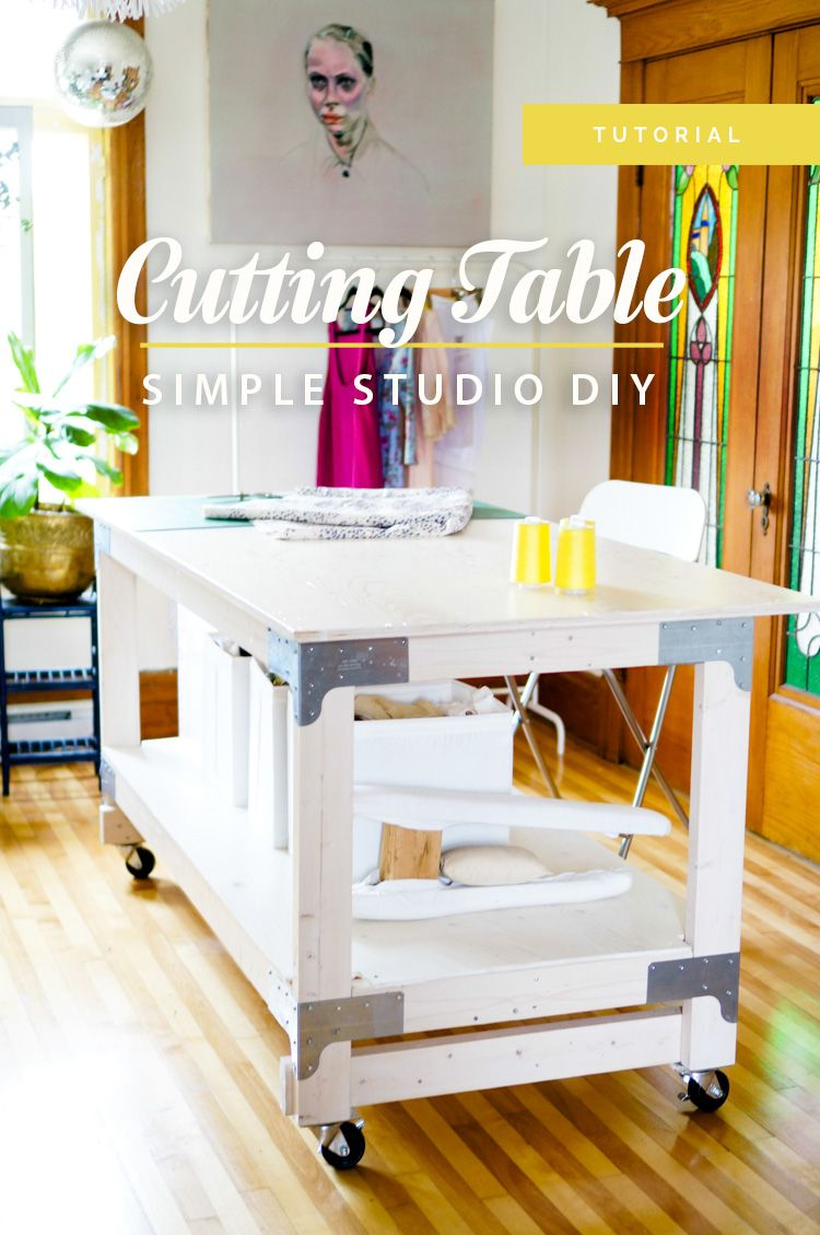 Sewing u cutting table diy for your craft or sewing studio maker