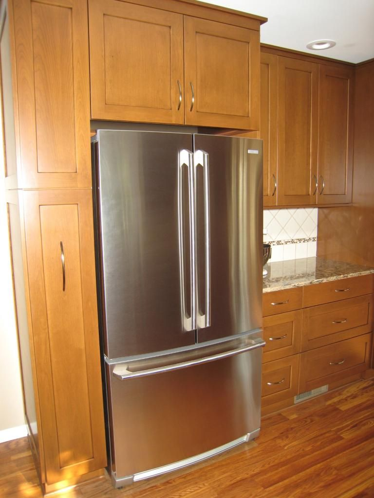 Refrigerator Surround Cabinets Re Cabinet Depth Refrigerator Kitchen Pinterest Cabinet