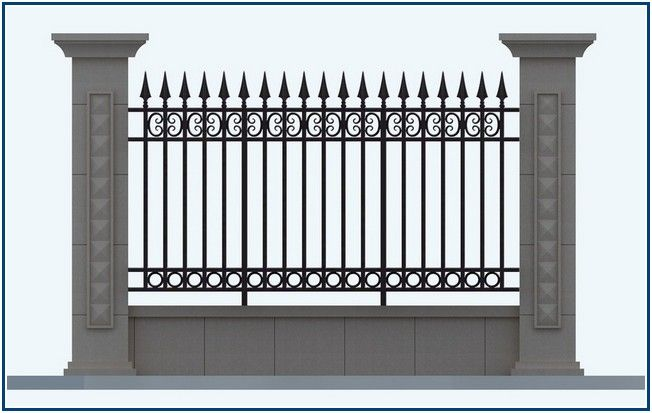 Extraordinarily 6 Foot Fence Panels Fence Design Wrought Iron Fences Fence Panels