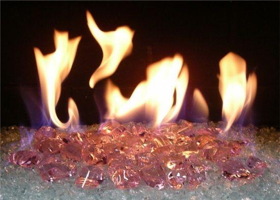Pink Fireplace Glass Glass Fireplace Fire Glass Fireplace Fire