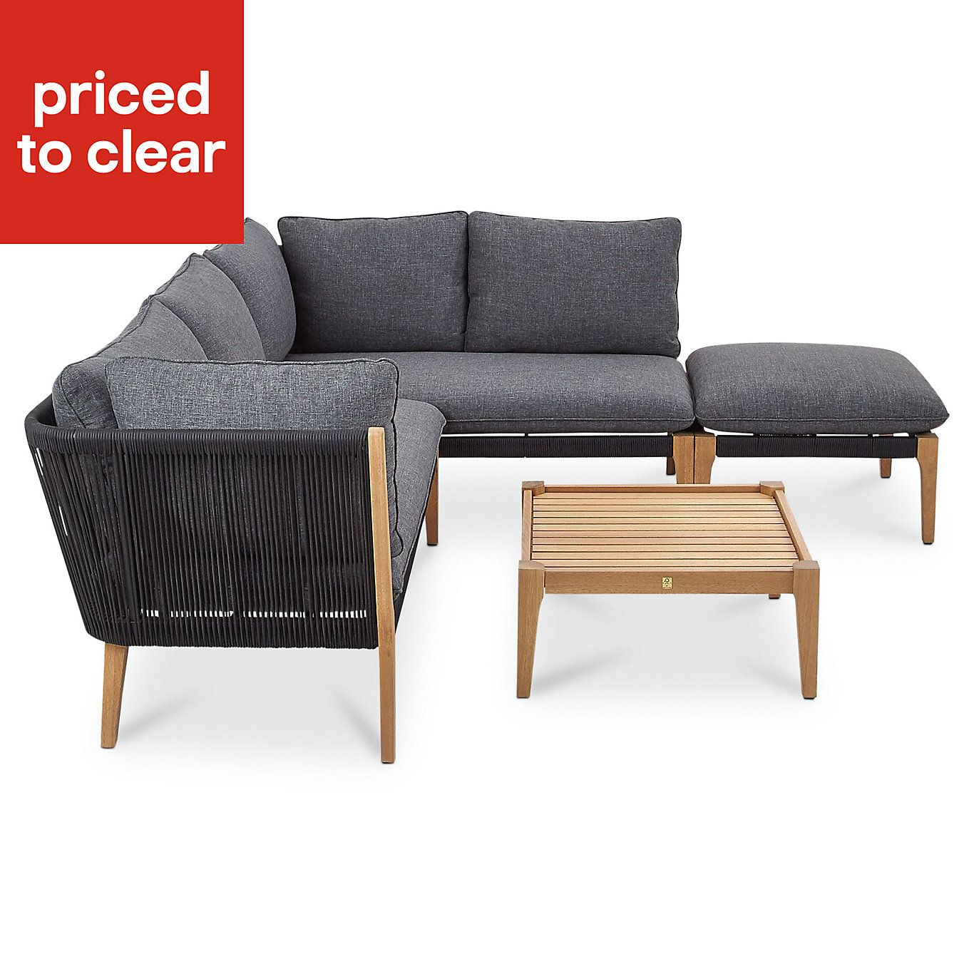 Juneau 6 Seater Coffee Set Furniture Outdoor Sectional Sofa Seater