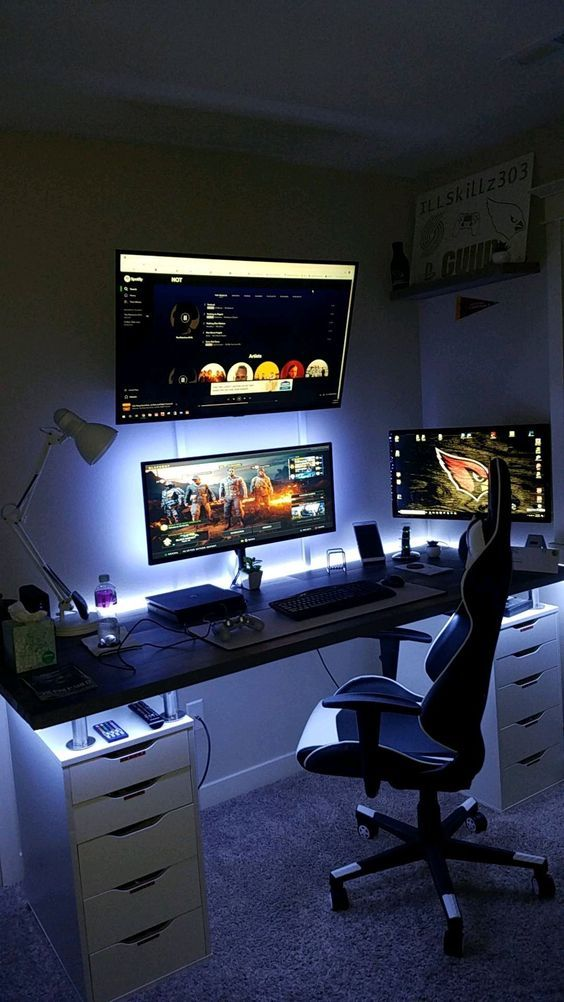 40+ Best Video Game Room Ideas for Gamer's Guide images