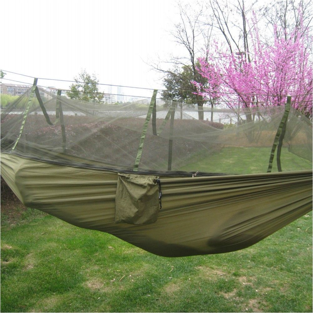 Portable indoor outdoor hammock for backpacking camping hanging bed