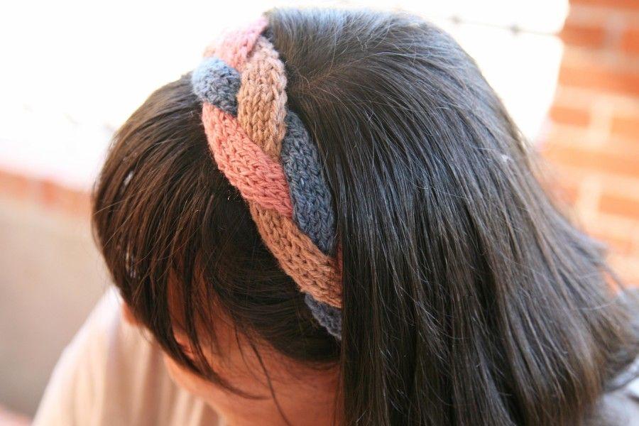 Cómo tejer una diadema o vincha de lana con dos agujas. VER PATRON ...