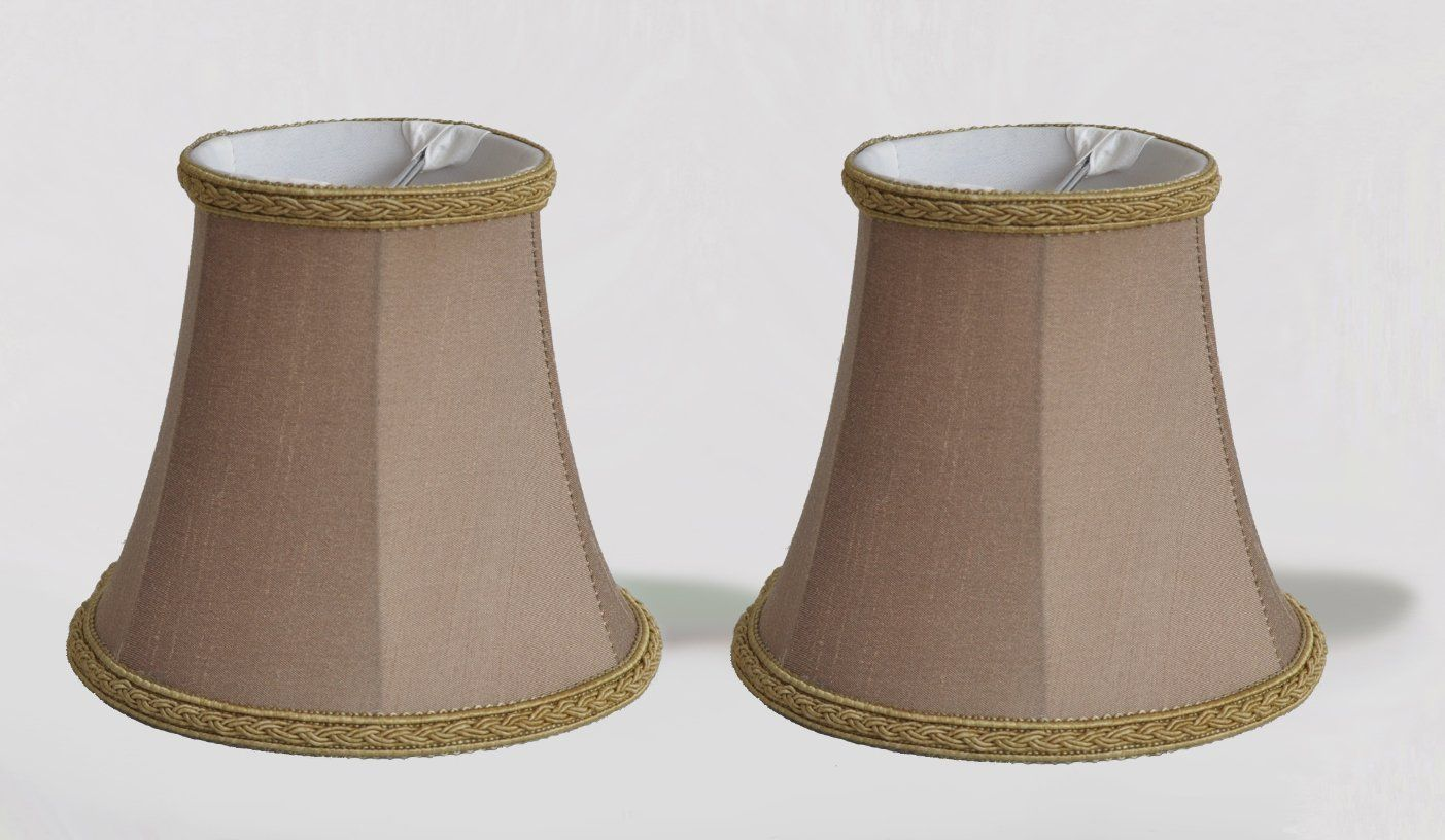Urbanest 1100468a Set Of 2 Chandelier Mini Lamp Shade 5 Inch Bell Clip On Taupe Find Out More About The Great Product At The Im Mini Lamp Lamp Shade Lamp