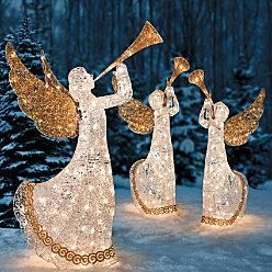 Outdoor holiday lighted animated christmas trumpeting angel yard art outdoor holiday lighted animated christmas trumpeting angel yard art aloadofball Image collections