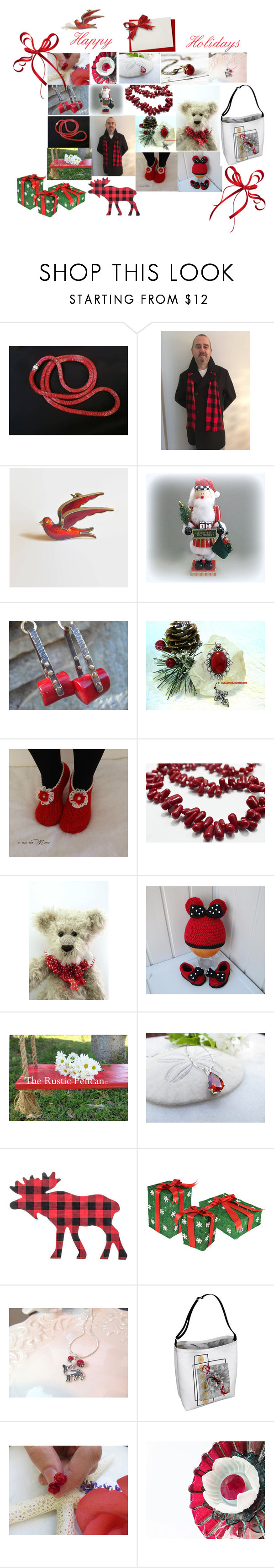 """""""Merry Christmas"""" by therusticpelican ❤ liked on Polyvore featuring Chilli Pepper, modern, contemporary, rustic and vintage"""