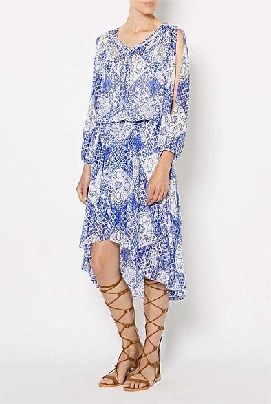Shop Women s Clothing Australia - Witchery Online - Lace Up Print Dress f4ea2caf8