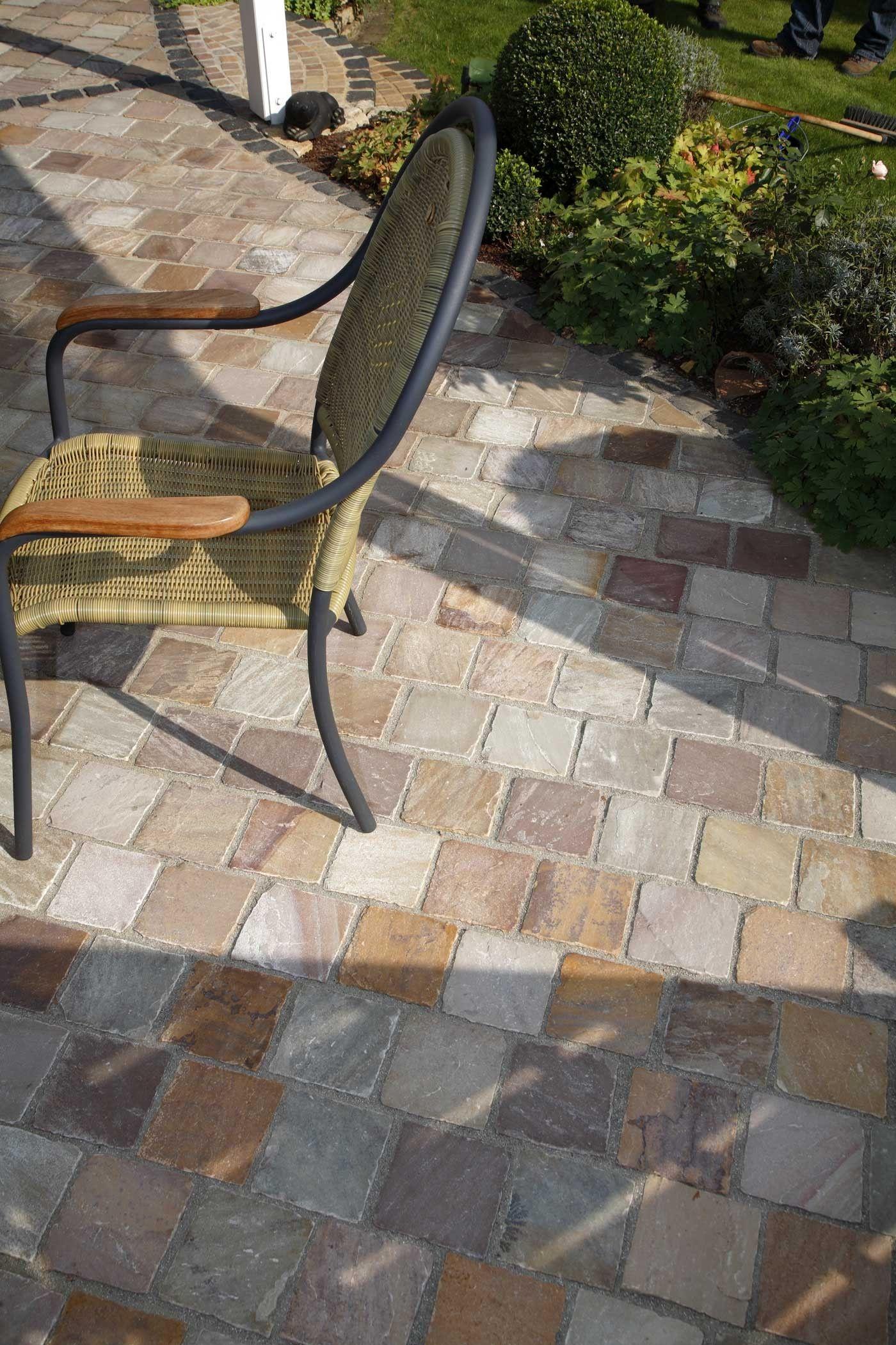 Comment Nettoyer La Terrasse En Pierre pavé pierre naturelle grès brut kandla multicolor 14 x 14 x
