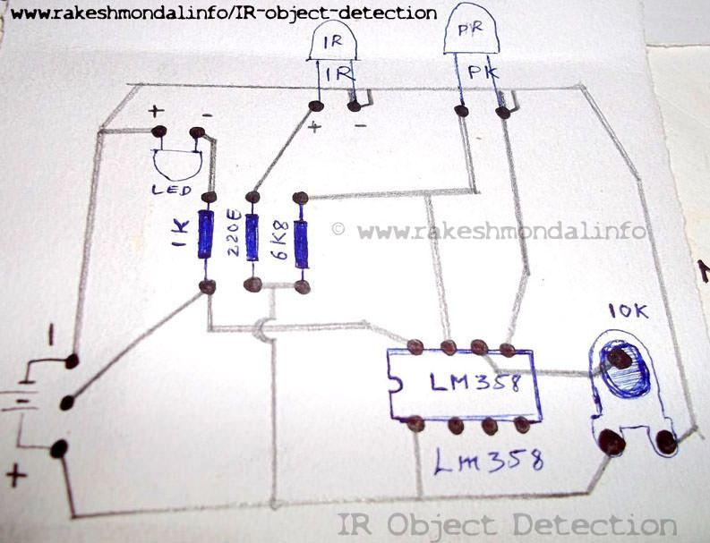 single and dual ir infrared sensor interface lcd on arduino this project shows how to make an infrared ir sensor object detection module circuit using ir infrared led and photodiode which act as a sensor