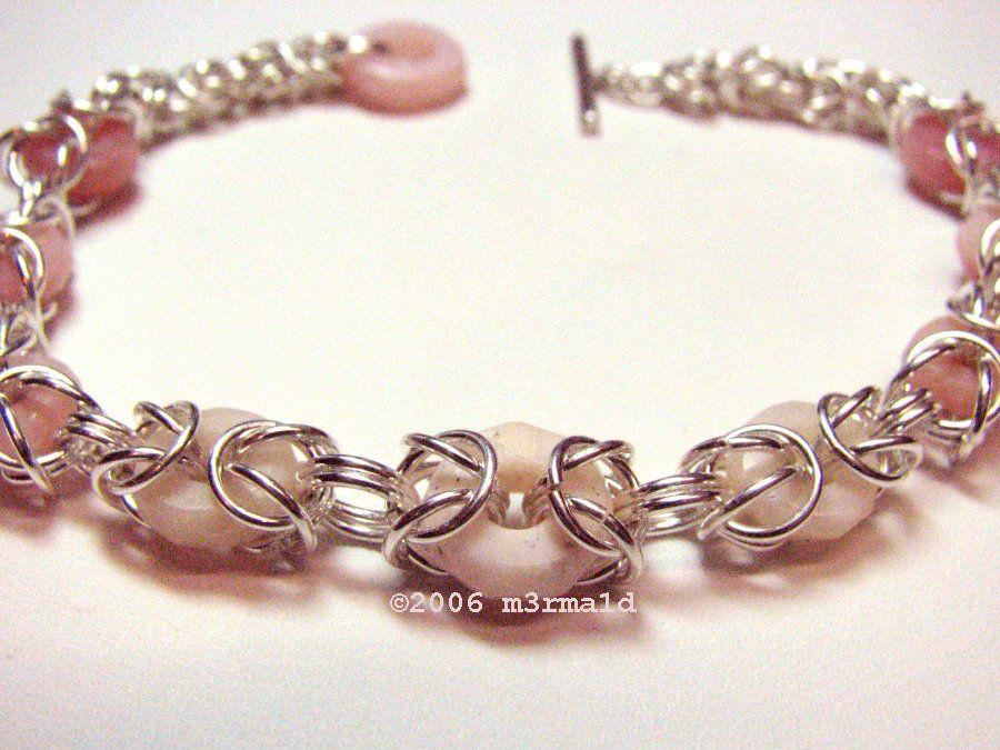 Chainmaille Bead #Bracelet | WIRE BRACELETS | Pinterest | Schmuck ...