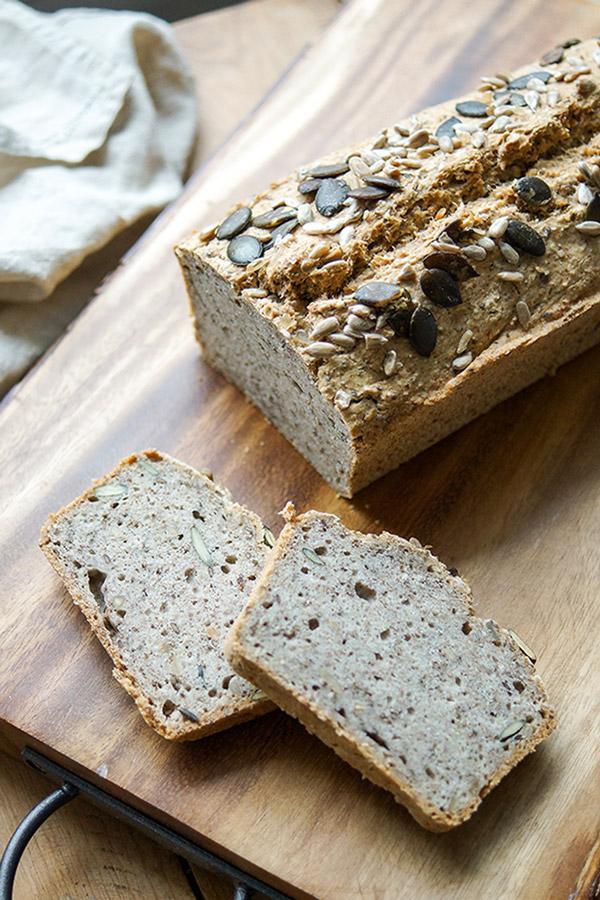 Buckwheat Chickpea Bread Vegan Gluten Free Elle Republic Recipe In 2020 Buckwheat Bread Gluten Free Bagels Bread