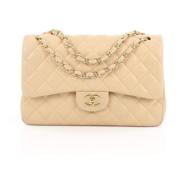 Pre Owned Chanel Classic Double Flap Bag Quilted Lambskin Jumbo 3 470 Liked