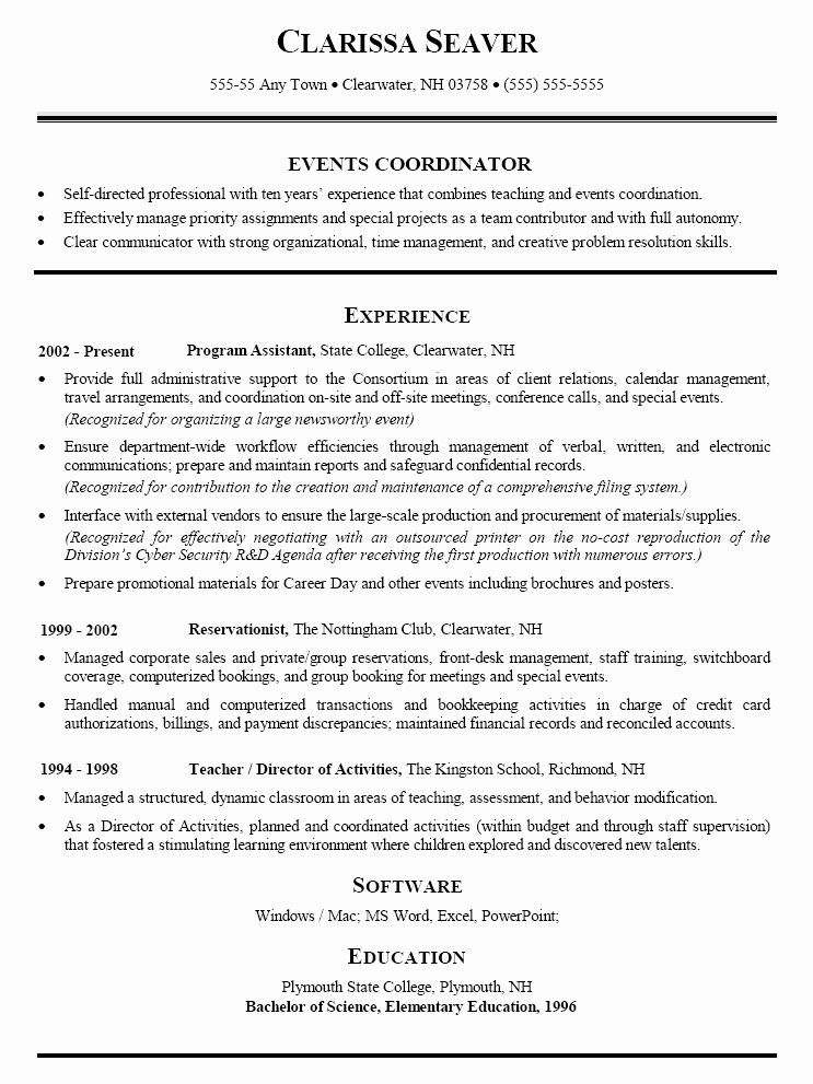 25 event Planner Resume Keywords in 2020 Event planner