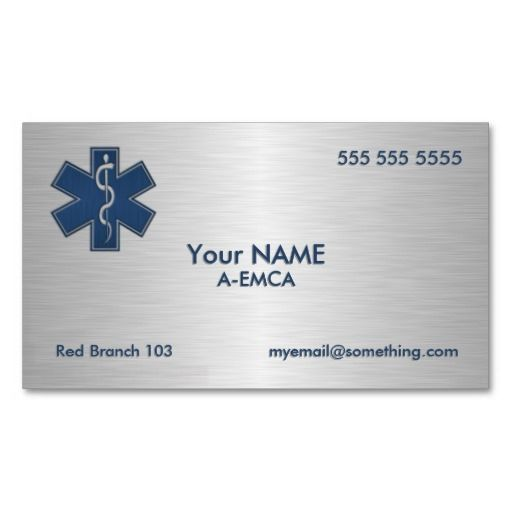 Paramedic Emt Ems Deluxe Business Card Template  Medical Health